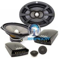 "RE AUDIO XXX6.9C PRO 6""X9"" 240W RMS COMPONENT SPEAKERS SILK"